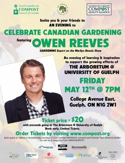 Flyer for Celebrate Canadian Gardening May 12 2017 Talk