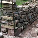 partially built stone wall