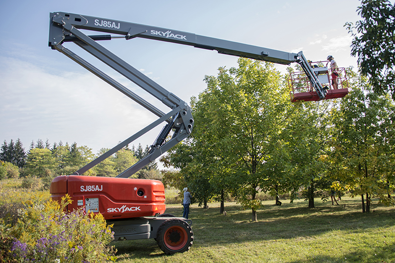 SkyJack being used to collect seeds from trees in The Arboretum