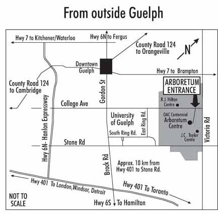 Directions The Arboretum - Guelph map